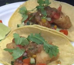 Crispy Fish Tacos with Fresh Salsa - Easy Fish Taco