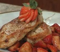 Pork Chops with Strawberry Salsa