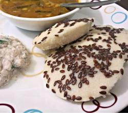Healthy Flax Seed Rice Idli