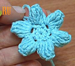 How To Crochet Flower Popcorn Stitches Tutorial 41 Part 1 of 3