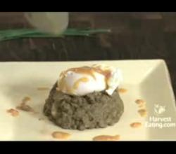 French Green Lentils with Poached Egg