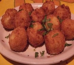 Fried Cheese Balls with Paprika