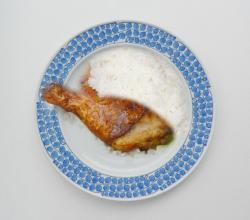 Fried Chicken With Lemon Rice