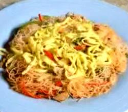 Classic Fried Rice Vermicelli and Sardines