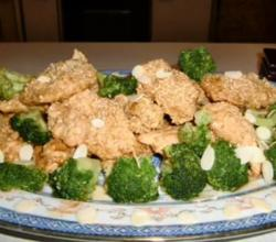 Fried Sesame Chicken with Broccoli
