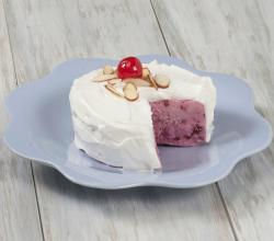 Frozen Cherry Almond Greek Yogurt Cake