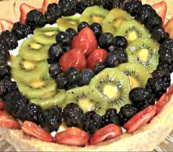 Mediterranean Fruit Tart!! Mediterranean Custard Filled Fruit Tart !!!