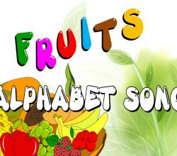The Fruits Alphabets Song - Learn ABC with Fruits