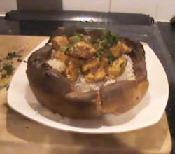 Giant Yorkshire Pudding Filled With Chicken Curry