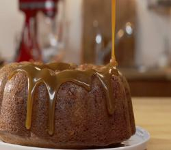 Ginger Spice Bundt Cake with Caramel Sauce