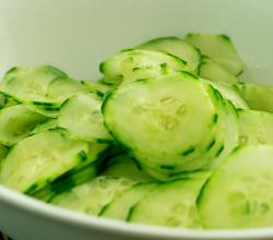 Gingered Cucumber Slices