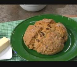Irish Soda Bread with Nuts and Raisins