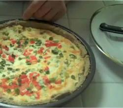 Gluten Free Quiche with Three Cheeses