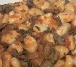 Italian Potato Gnocchi with Butter and Sage Sauce and Creamy Mushroom Sauce