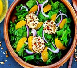 Pecan Encrusted Goat Cheese Salad