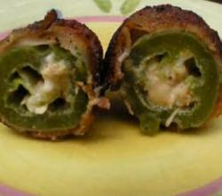 Greek Cajun Texan ABT's aka Bacon wrapped stuffed Jalapenos