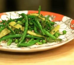 Green Bean Salad with Shallot Mint Vinaigrette - Tapas 5 with Chef Sandra Cordero