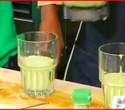 Protein Shake Two Ways with Fresh Poi and Green Tea