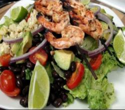 Grilled Chipotle Lime Shrimp Salad - With a Cilantro Lime Dressing