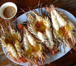 Grilled Giant Prawns