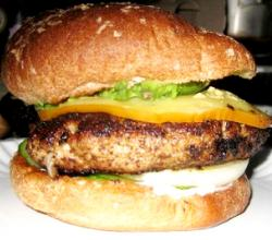 Grilled Greek Style Turkey Burger