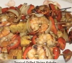 Healthy Crispy Grilled Shrimp Kebabs