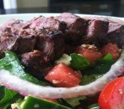 Grilled Sirloin Steak Salad with Watermelon