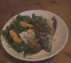 Grilled Trout with Chilli, Orange and Watercress