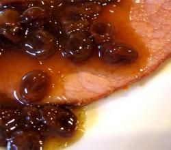Ham With Spicy Raisin Sauce