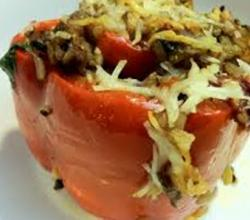 Healthy Vegetarian Stuffed Bell Peppers