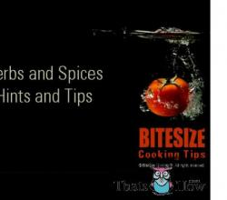 Hints and Tips for Using Herbs and Spices