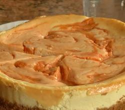 Holiday Series: Sweet Potato Swirled Cheesecake