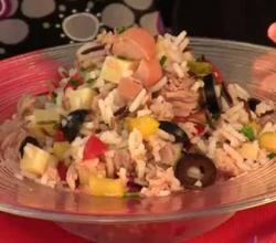 Hot Dog Tuna and Rice Salad