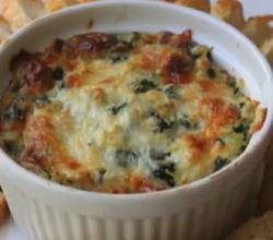 Baked Hot Low-Fat Spinach and Artichoke Dip
