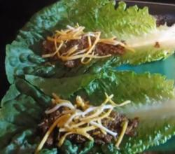 Chef's Special Cheese Burger Lettuce Wraps