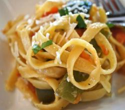 How to Make Sauteed Vegetables with Fettuccine