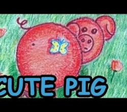 How to Draw a Cute Pig - Danny & Daddy