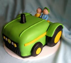 How to Make a Tractor-shaped Birthday Cake
