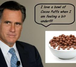 Teetotaler Mitt Romney's One Vice – Cocoa Puffs