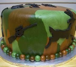 How To Decorate A Camouflage Cake At Home