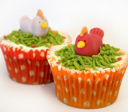 3 Easy Chicken Cupcake Ideas