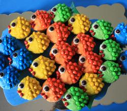 3 Easy Fish Cupcake Ideas