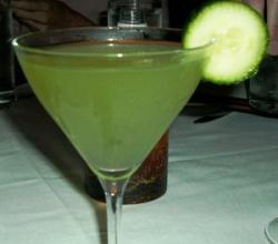 Cucumber Martini Garnishing Tips
