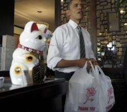 President Obama Finds Himself In A Shark Fin 'Soup'
