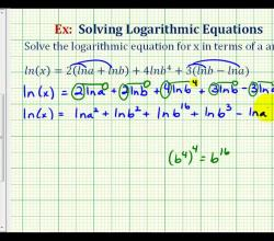 Ex:  Solve a Logarithmic Equation in Terms of Other Variables