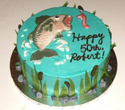 How to Paint Brush a Fondant Fish Cake