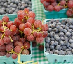 Blueberries, Red Grapes - New Superfoods