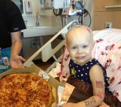 It's Raining Pizzas For A 2-Year-Old Cancer Patient