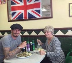 Beckham's Lunch Date With Mom