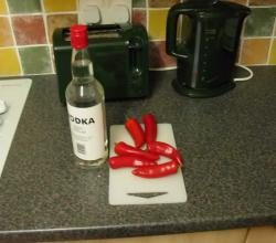 How to Preserve Hot Peppers in Vodka